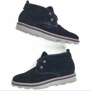 Tommy Hilfiger   Genuine Leather Suede Shoe Bootie